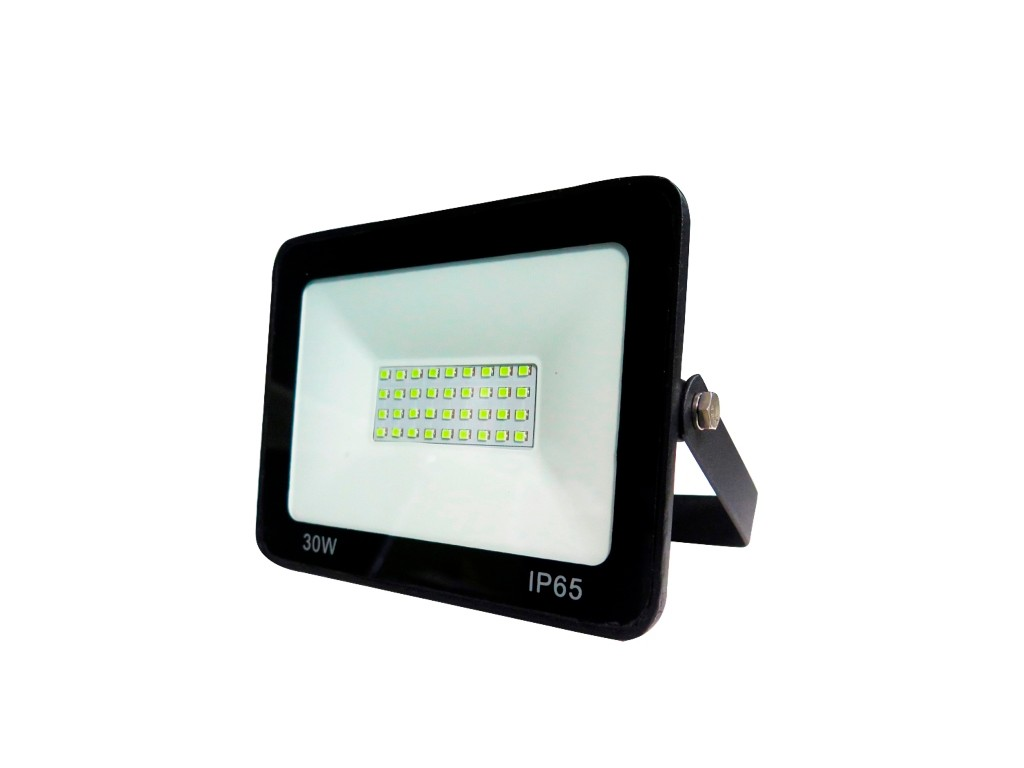 PROYECTOR LED EXTRAPLANO IP65 30W 3000K 230V NEGRO FBRIGHT ECO