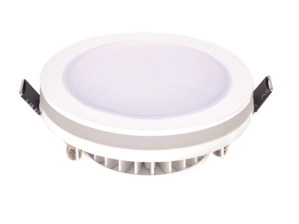 DOWNLIGHT LED EMPOTRABLE REDONDO IP44 CORTE 90MM 10W 3100K 120º 230V