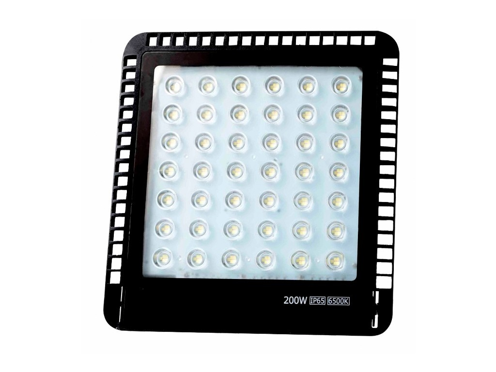 PROYECTOR LED EXTRAPLANO IP65 200W 6500K230V NEGRO FBRIGHT ECO
