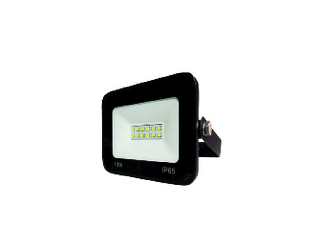 PROYECTOR LED EXTRAPLANO IP65 10W 3000K 230V NEGRO FBRIGHT ECO