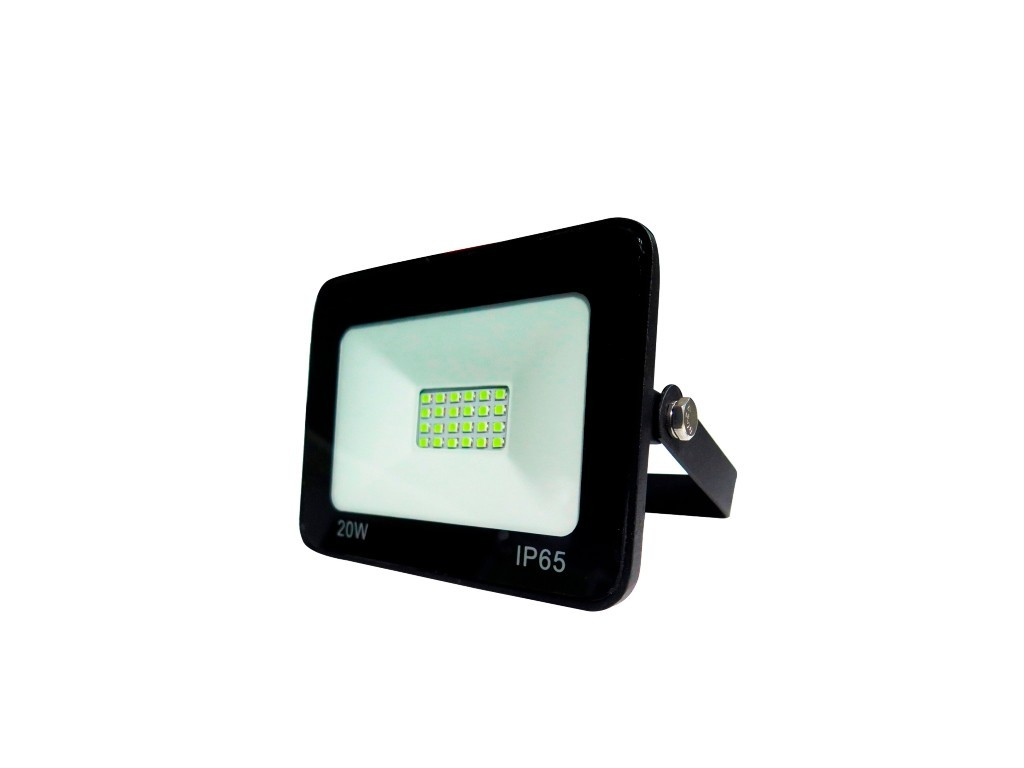 PROYECTOR LED EXTRAPLANO IP65 20W 3000K 230V NEGRO FBRIGHT ECO