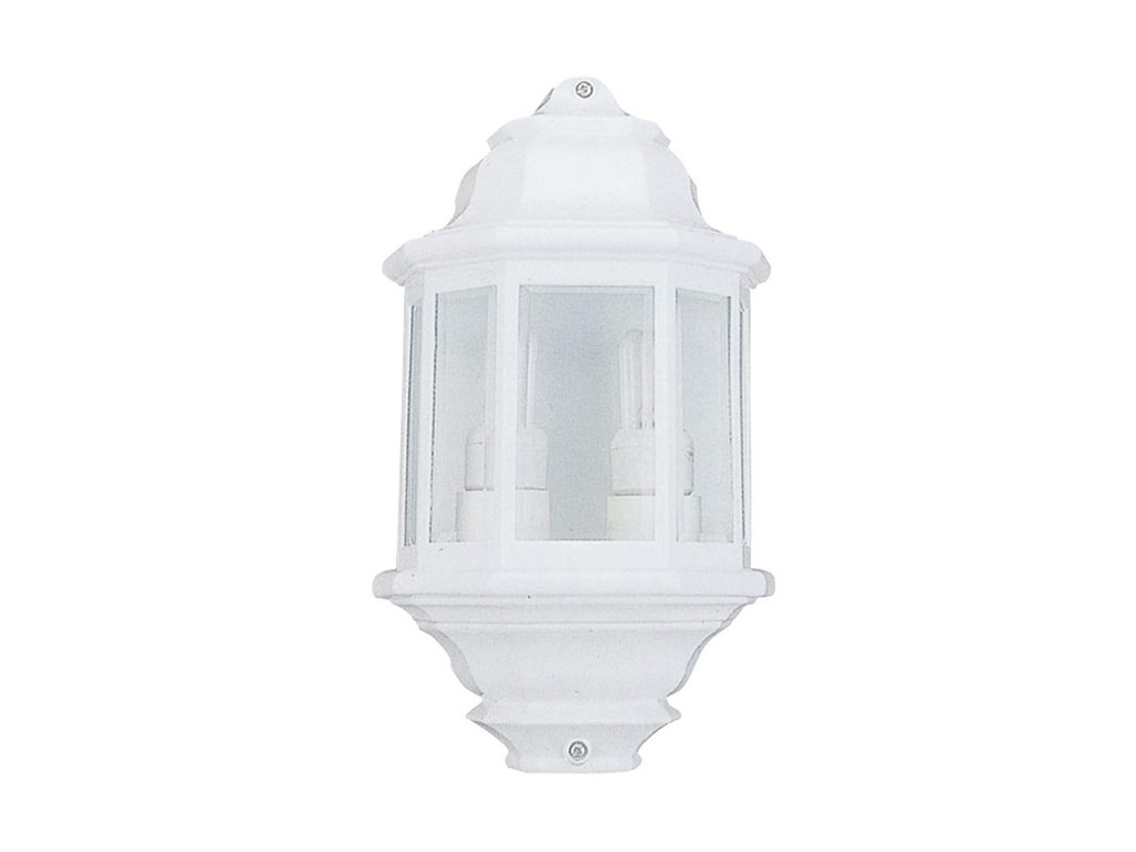 FAROL PARED  DOBLE PORTALAMPARAS COLOR BLANCO