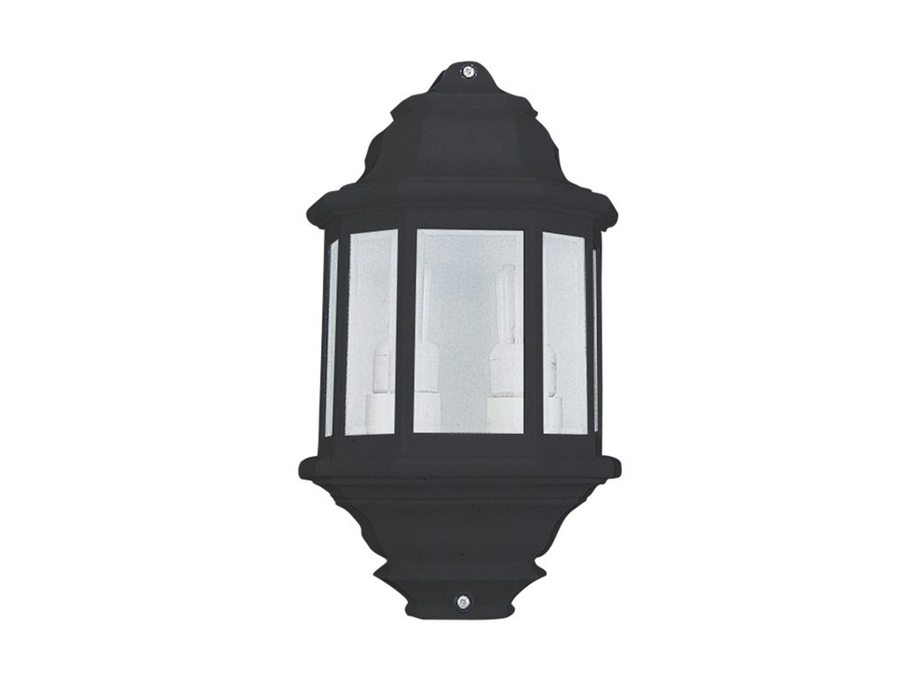 FAROL PARED  DOBLE PORTALAMPARAS COLOR NEGRO
