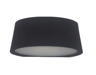 APLIQUE LED DECO IP54 3,4W 3000K 100º 230V NEGRO