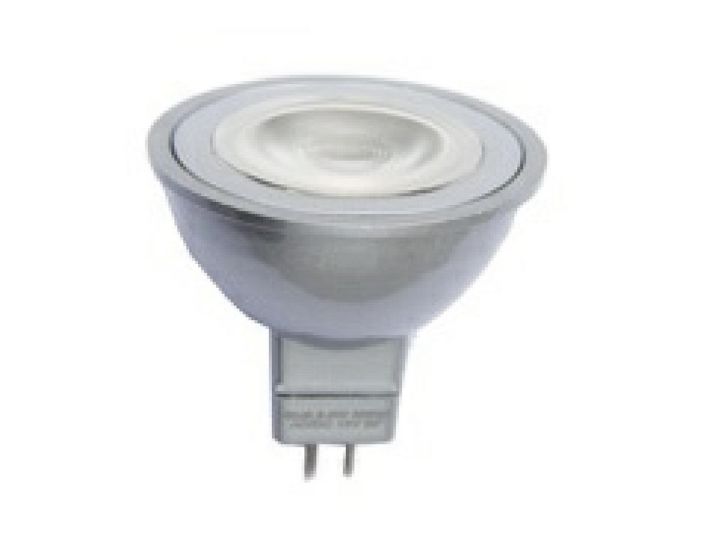 LAMPARA DICROICA LED AC/DC TODO TIPO REACTANCIA MR16 6W 3000K 36º 12V