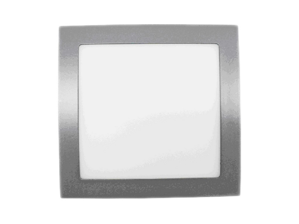 DOWNLIGHT LED EMPOTRABLE EXTRAPLANO CUADRADO CORTE 200MM 18W 4000K 100º 230V PLATA