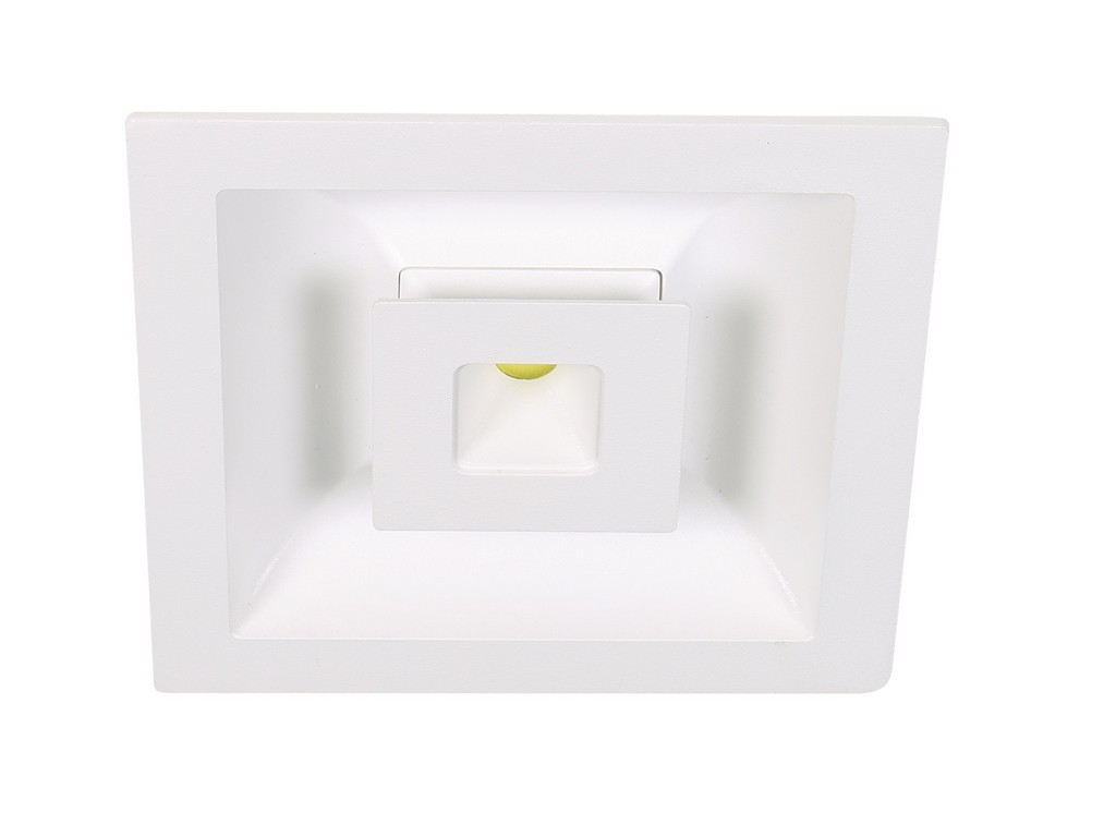 DOWNLIGHT LED EMPOTRABLE CUADRADO TRES ENCENDIDOS CORTE 160x160MM 15+12W 3000K 60º 230V