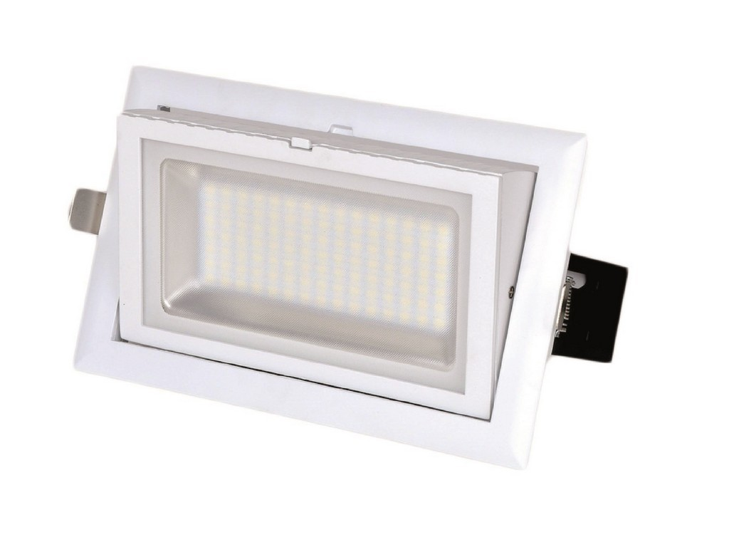DOWNLIGHT LED EMPOTRABLE PROFESIONAL RECTANGULAR PF>0,9 CORTE 227x130MM 28W 3000K 60º 230V
