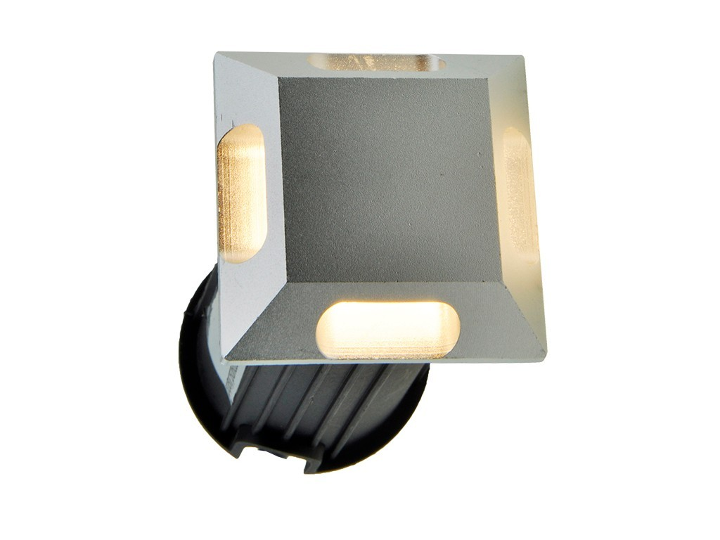 UPLIGHT LED IP65 3W 3000K PLATA CUADRADO
