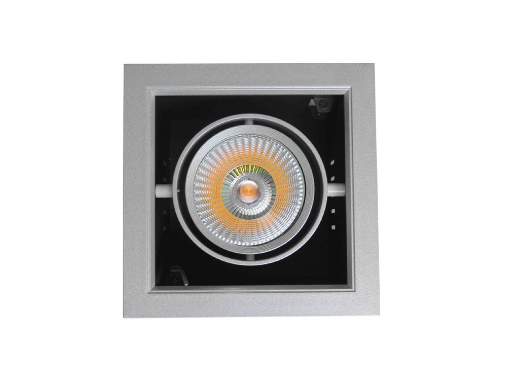 DOWNLIGHT LED EMPOTRABLE ORIENTABLE AR111 PF>0,9 CORTE 172x172MM 30W 3000K 24º 230V INOXIDABLE