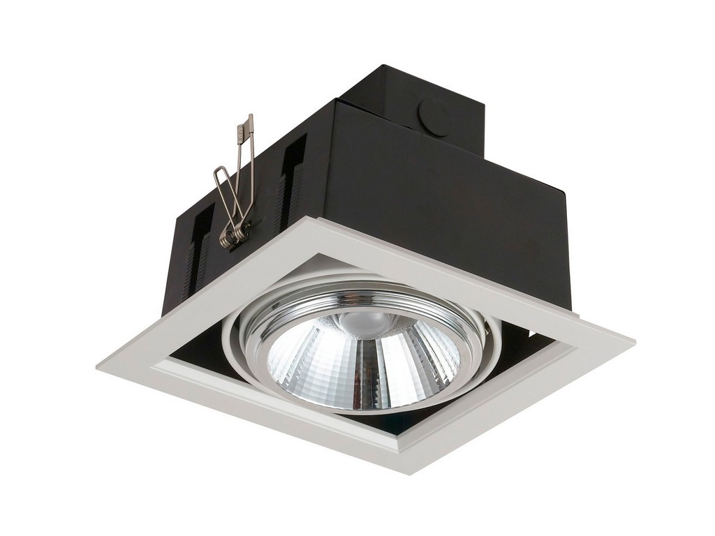 DOWNLIGHT EMPOTRABLE ORIENTABLE AR111 LED 20W 3000K 24º 230V BLANCO