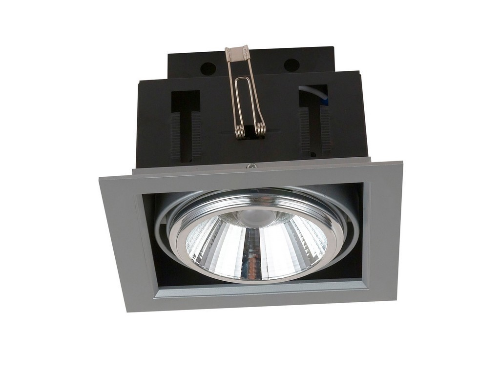 DOWNLIGHT EMPOTRABLE ORIENTABLE AR111 LED 20W 3000K 24º 230V INOX