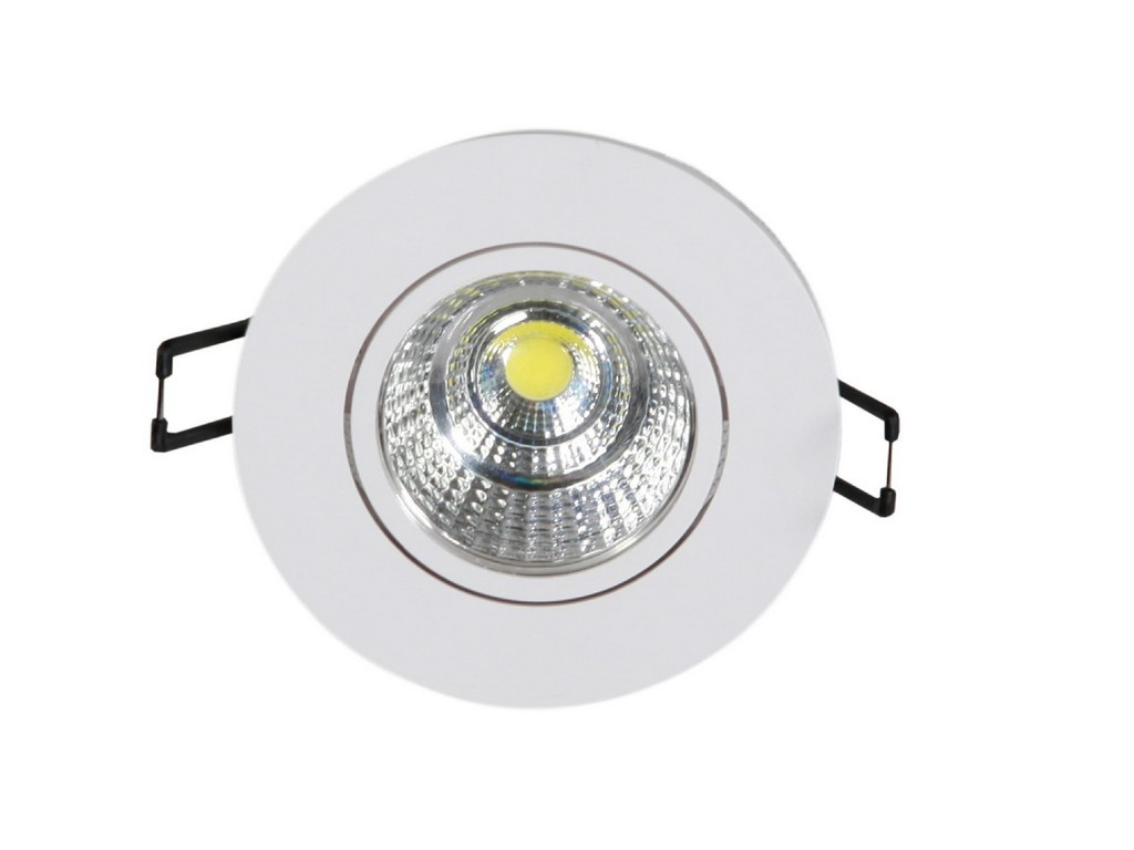 DOWNLIGHT LED EMPOTRABLE ORIENTABLE REDONDO CORTE 60MM 4W 3000K 36º 230V