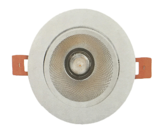 DOWNLIGHT LED EMPOTRABLE ORIENTABLE REDONDO CORTE 125MM 15W 3000K 36º 230V