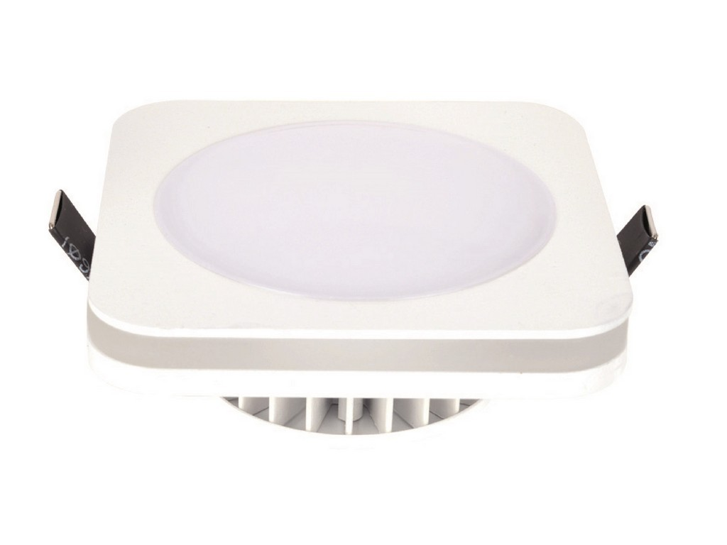 DOWNLIGHT LED EMPOTRABLE CUADRADO IP44 CORTE 90MM 10W 3100K 120º 230V