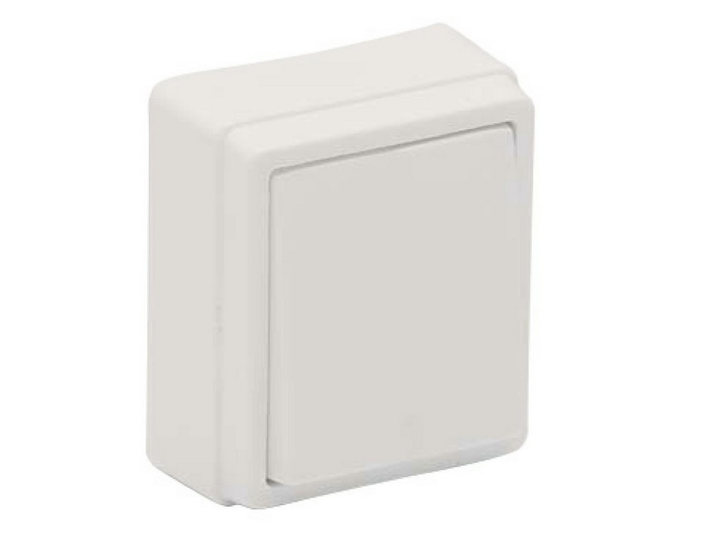 INTERRUPTOR SUPERFICIE SERIE 8000 BLANCA BLISTER