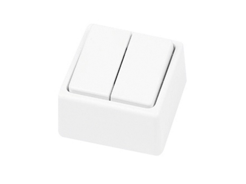 DOBLE INTERRUPTOR SUPERFICIE SERIE 8000 BLANCA BL